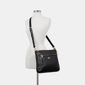 COACH Mae Pebble Leather Crossbody